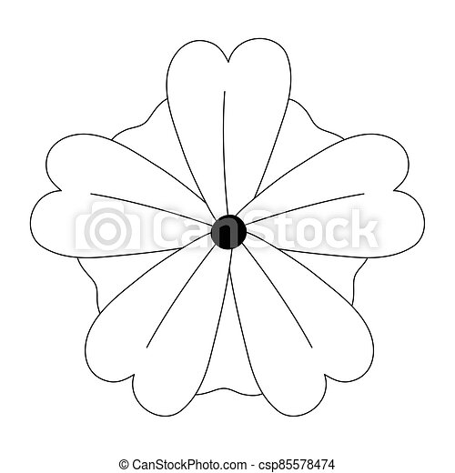 flower nature decoration isolated design icon style line style - csp85578474