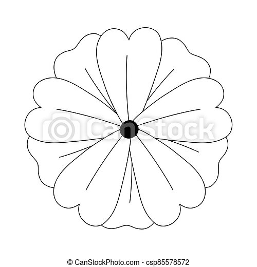 flower nature decoration, isolated design icon line style - csp85578572