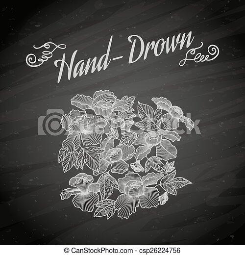 Vector illustration of flowers on chalkboard. Clip Art | k15133727 |  Fotosearch