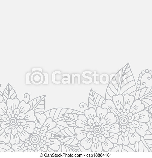 Flower ornament frame - csp18884161