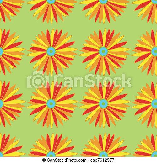 flower pattern - csp7612577