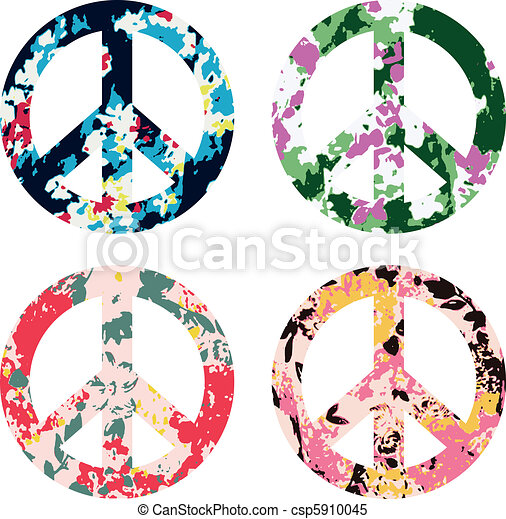 Flower Peace Symbol Sign