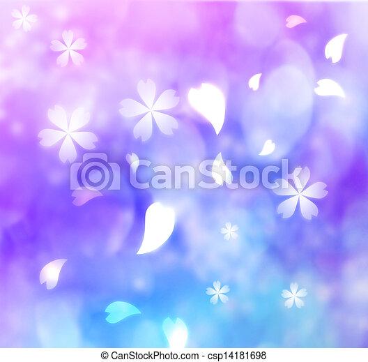 flower petal purple blue pink background csp14181698