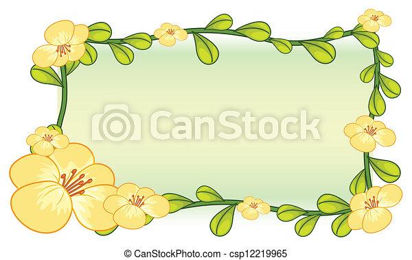 Flower Plant Frame Design