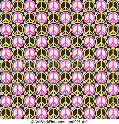 Flower Power pattern - csp22361042