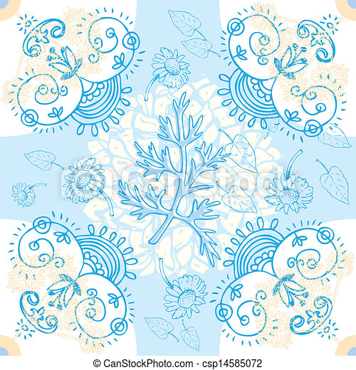 Flower Seamless Background - csp14585072