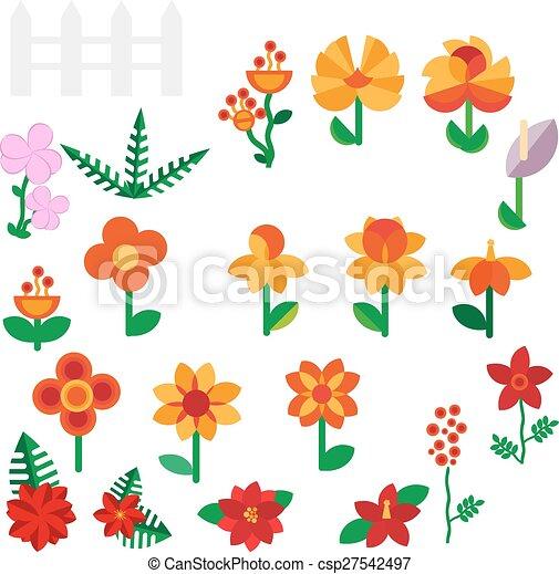 Flower set in a flat style flower set spring flowers vector flat flower set in a flat style flower set spring flowers vector flat illustration mightylinksfo