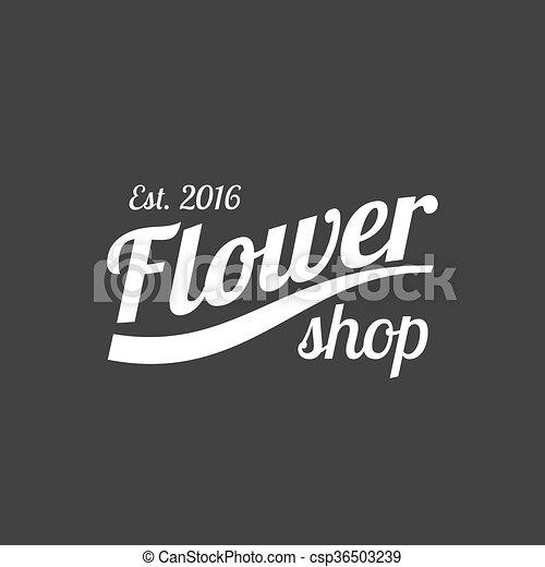 Flower shop vector logo - csp36503239