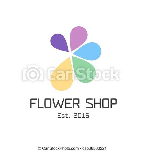 Flower shop vector logo - csp36503221