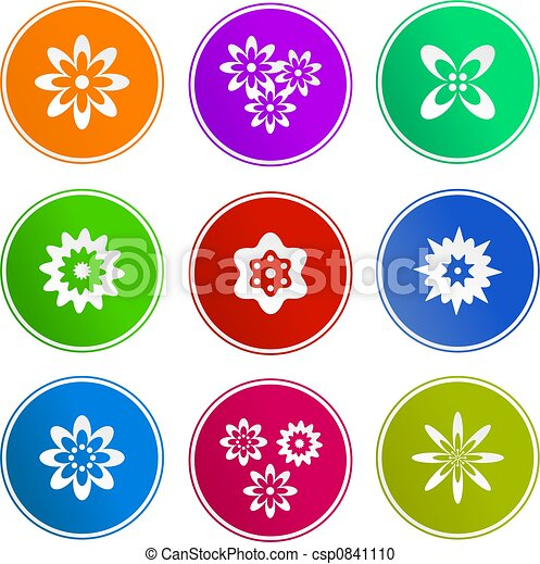 flower sign icons - csp0841110