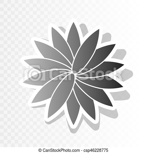 flower sign vector new year blackish icon on transparent background with transition