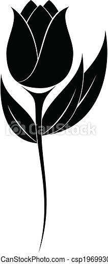 Flower Silhouette Illustration Of Flower Silhouette