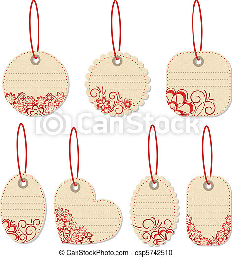 Flower tags.  - csp5742510