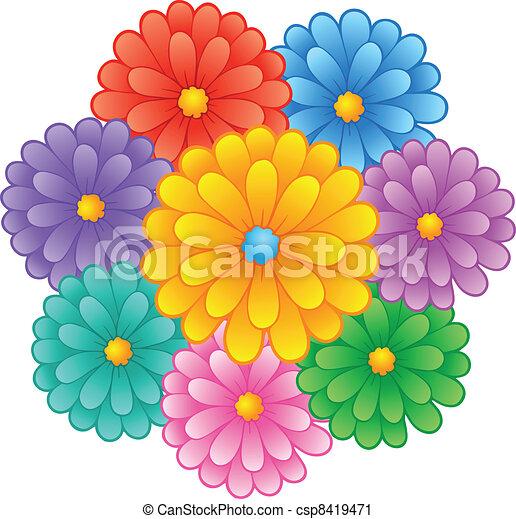Flower theme image 1 - csp8419471