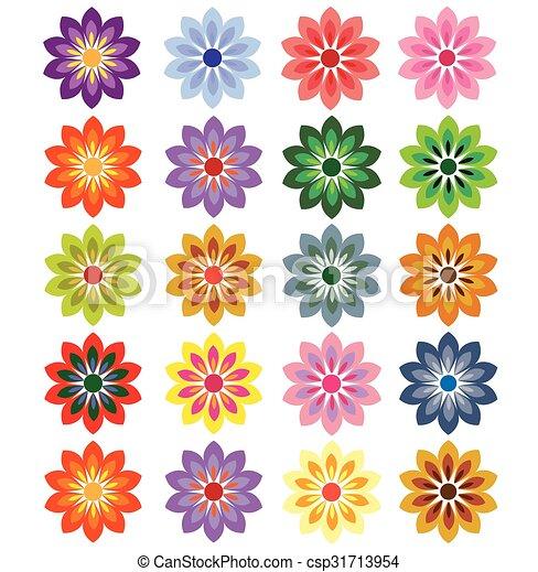 flower vector - csp31713954
