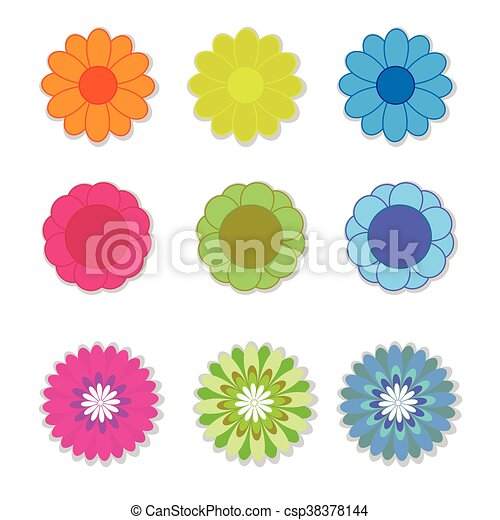 Flower vector on white background - csp38378144