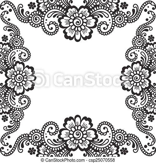Flower vector ornament corner white flower corner lace ornament flower vector ornament corner mightylinksfo