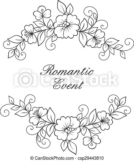 Flower Vector Ornament Frame Black Flower Frame Lace Ornament
