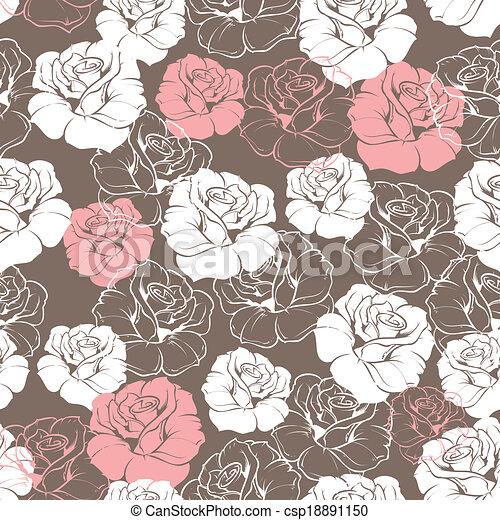 Flower Vector Pattern Wallpaper