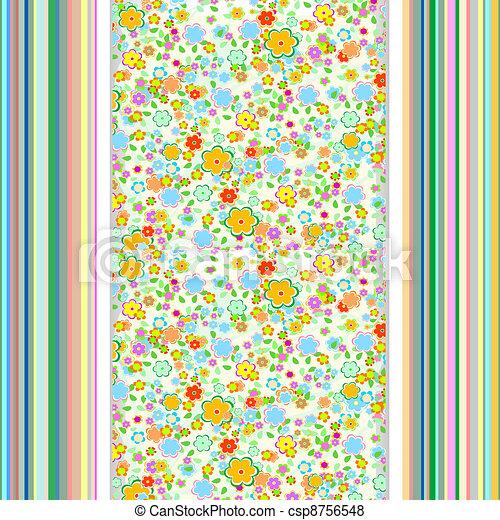 flower wallpaper. retro vintage background - csp8756548