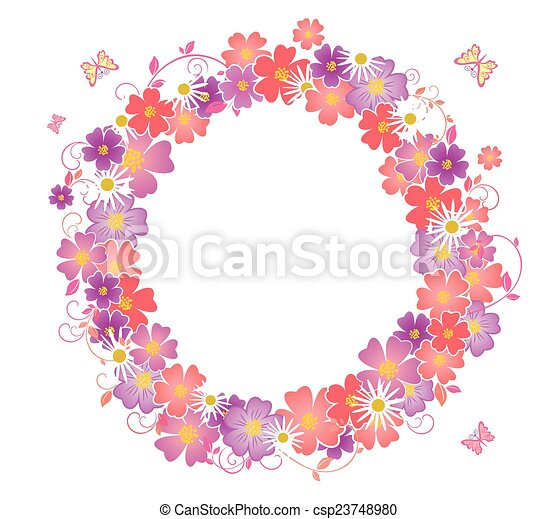 Flower wreath - csp23748980