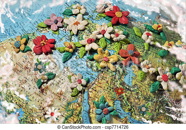 Flowered Middle East  - csp7714726