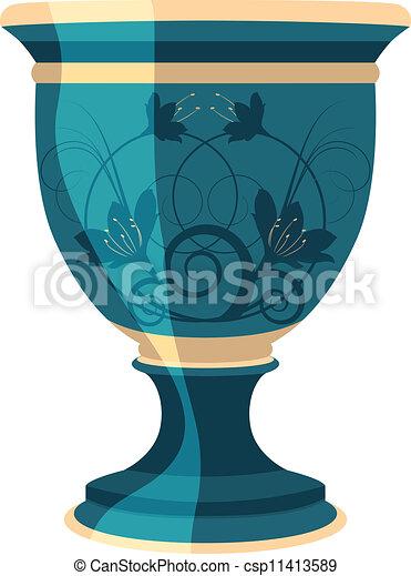 flowerpot, flower vase vector - csp11413589