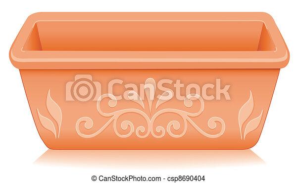 Flowerpot Planter, Floral Designs - csp8690404