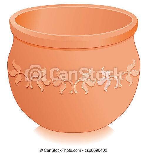Flowerpot Planter, Floral Designs - csp8690402