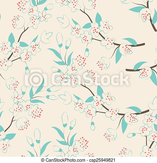 flowers., árvore, coloridos - csp25949821