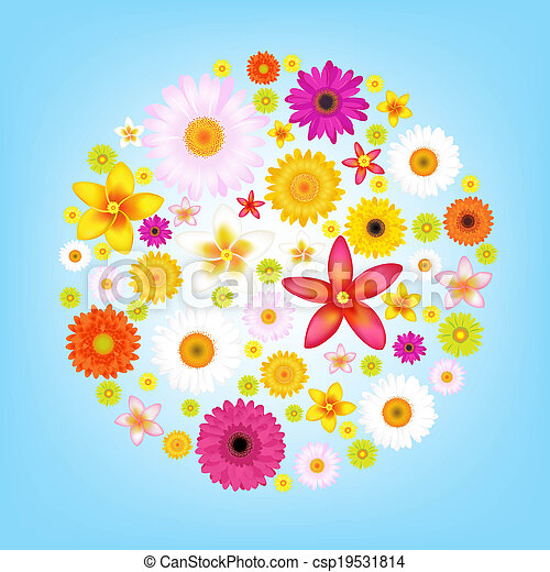 Flowers And Blue Sky - csp19531814