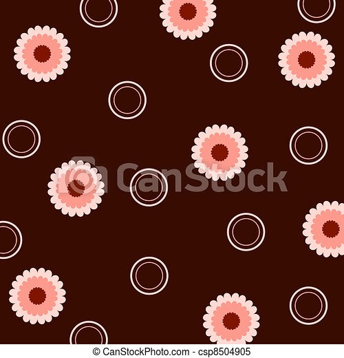 Flowers and circles - csp8504905
