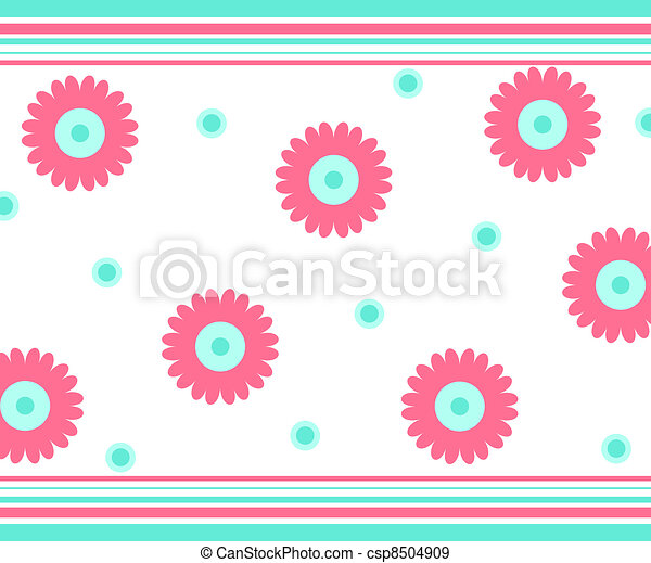 Flowers and stripes - csp8504909