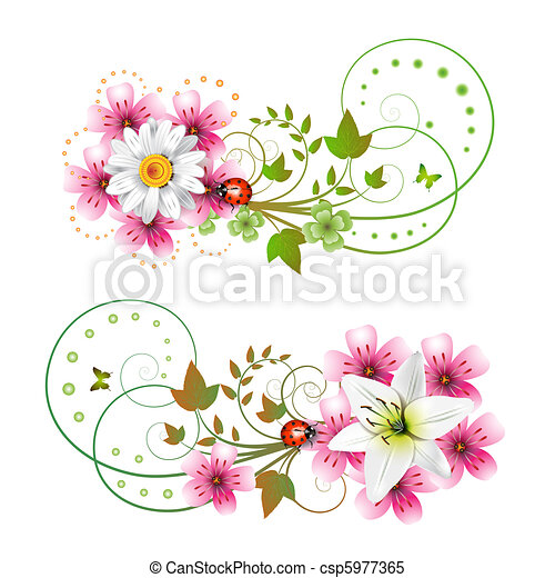 Flowers arrangement - csp5977365