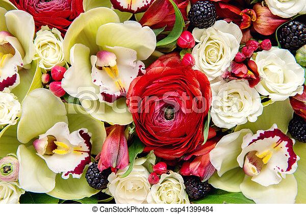 Flowers background - csp41399484
