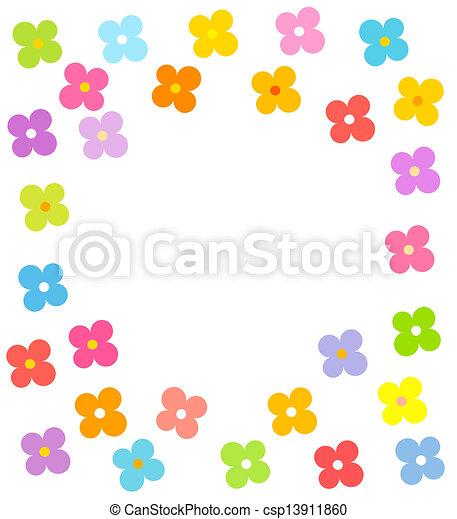 Flowers border - csp13911860