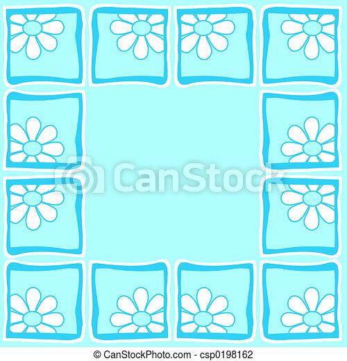 Flowers - Border - csp0198162