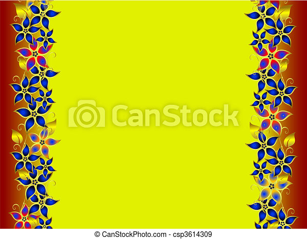 Flowers border - csp3614309