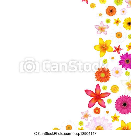 Flowers Border - csp13904147