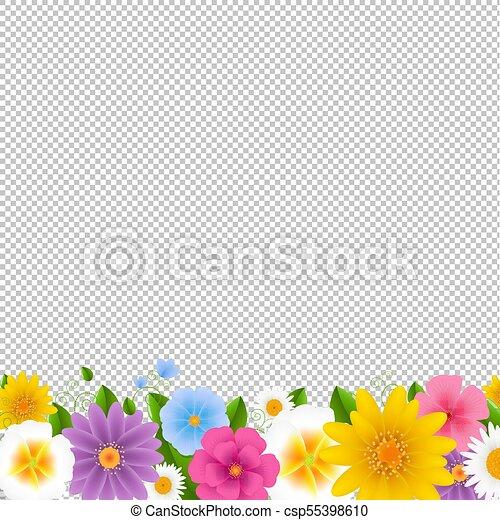 Flowers Border Transparent Background