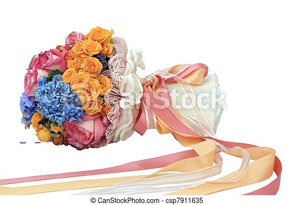 flowers bouquet - csp7911635
