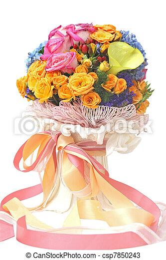 flowers bouquet - csp7850243