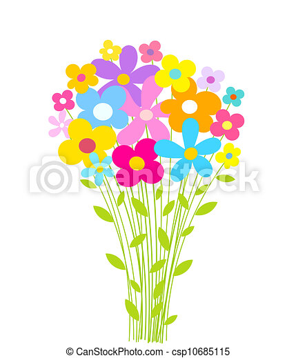 flowers bouquet vector illustration vector clip art search rh canstockphoto com clip art flower bouquet in vase free clipart images flower bouquets