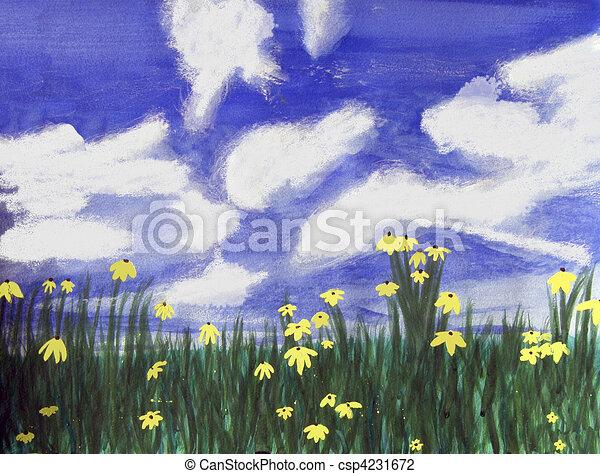 Flowers bright field, Florida - csp4231672