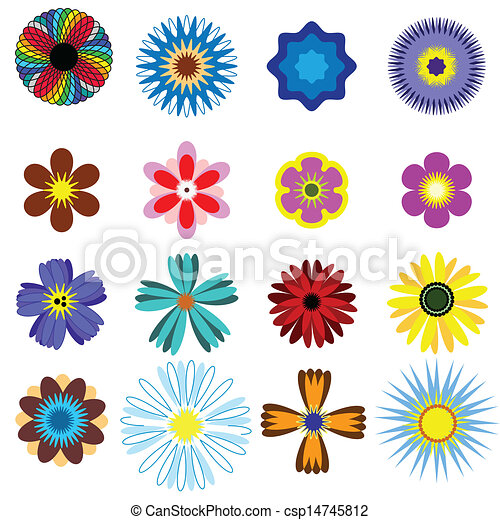 Un juego de flores. - csp14745812