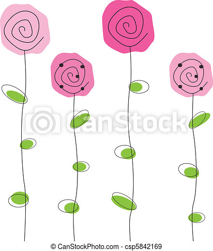 Flowers Pretty Simple Pink Roses Flowers