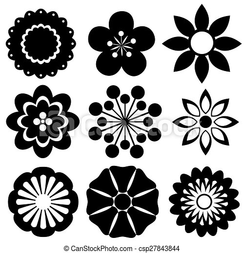 Flowers black and white flower design samples eps vector search flowers csp27843844 mightylinksfo