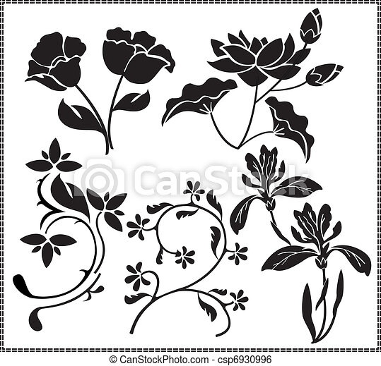 flowers graphics - csp6930996