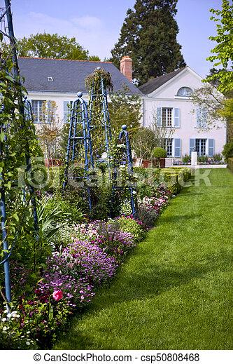 Flowers in a garden - csp50808468