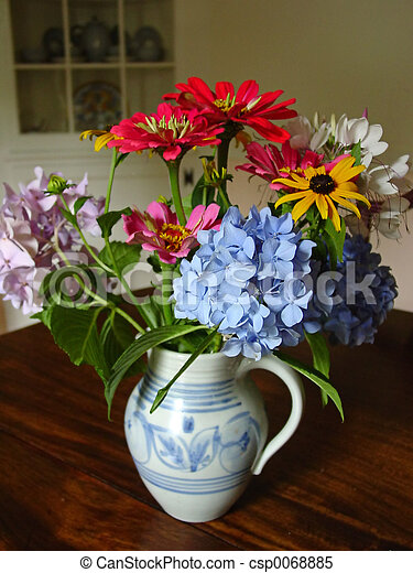 Flowers in pitcher - csp0068885